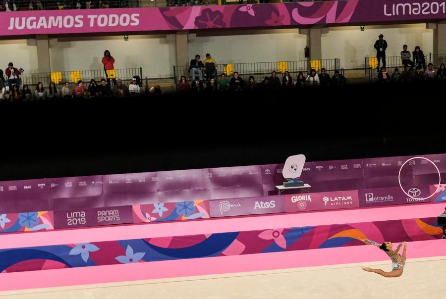 Obtiene la gimnasta rítmica mexicana Karla Díaz medalla de bronce en Lima