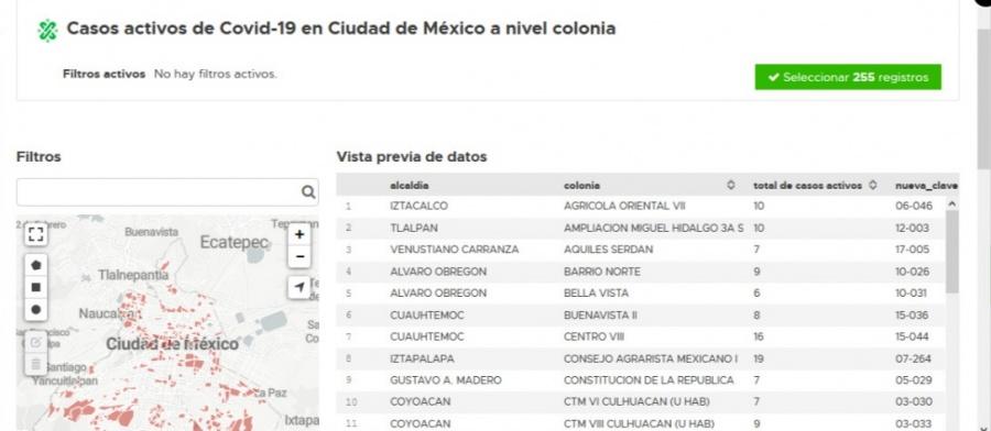 CDMX: Consulta los casos de Covid-19 en tu colonia