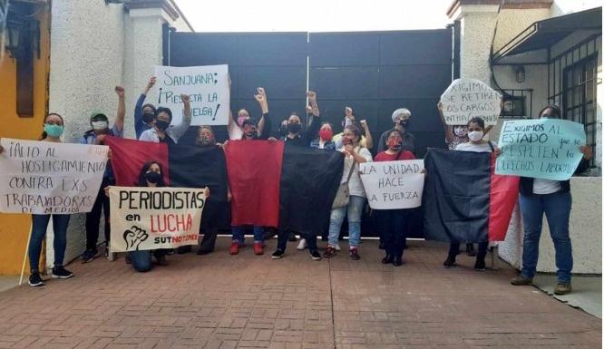 En caso de violación a huelga en Notimex, es preciso denunciar: STyPS