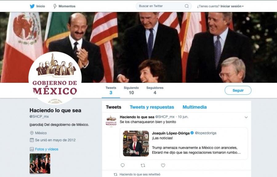 """Página web de Hacienda remite a cuenta """"fake"""" de Twitter de la dependencia"""