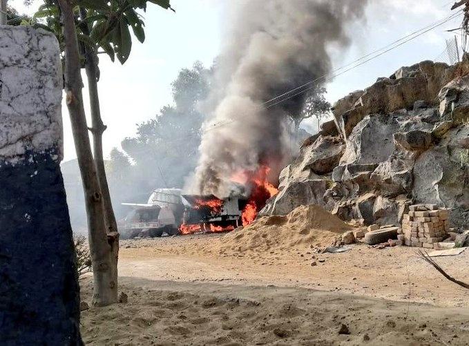 Se reporta explosión de pipa en Milpa Alta