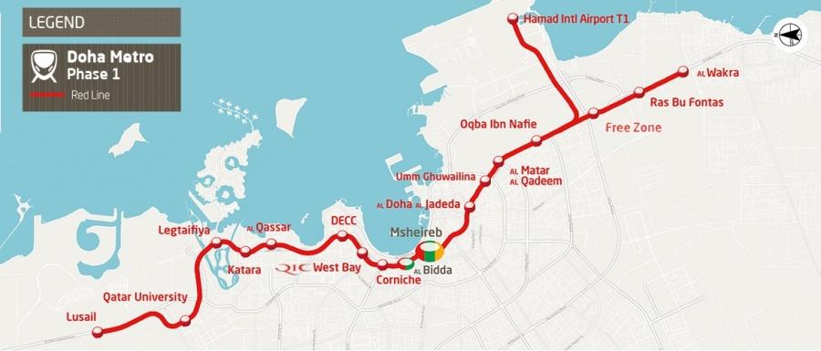 Funcionan ya las primeras estaciones del metro que unirá estadios en Mundial de futbol en Qatar
