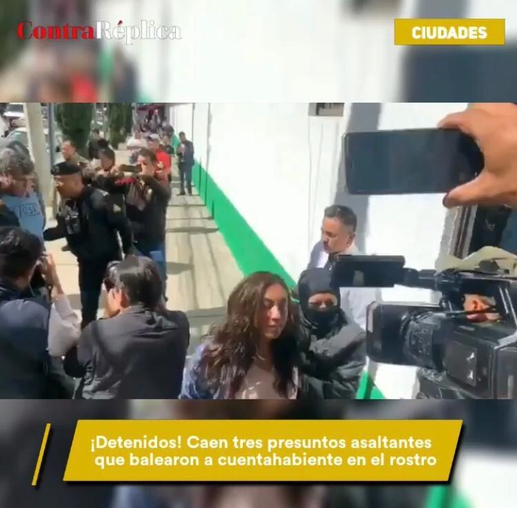 Capturan a banda de asaltantes que le dispararon a una mujer en la cara tras robarle 200 mil pesos.