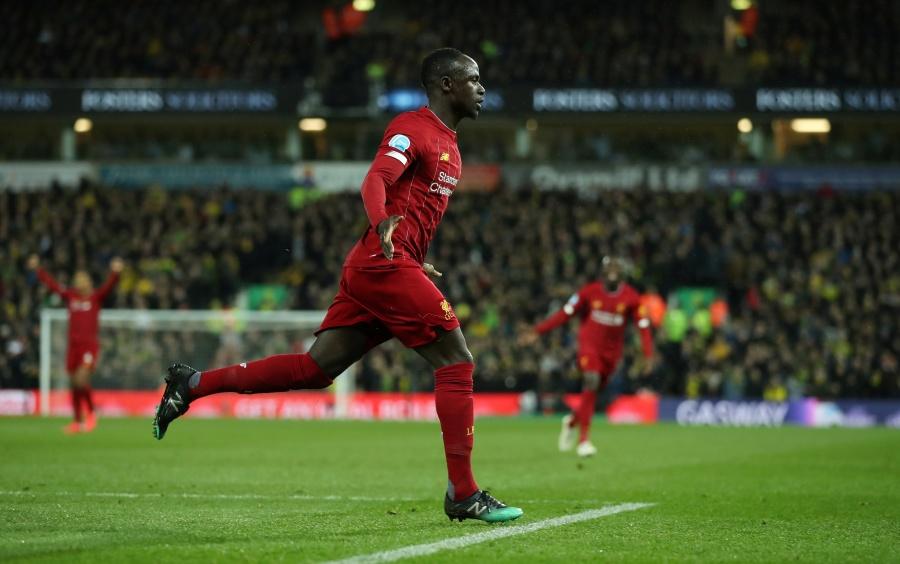 Mané da el triunfo al Liverpool sobre el Norwich y el título se aproxima