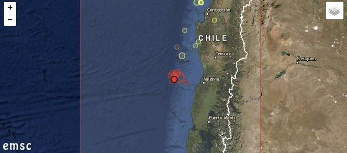 Chile sufre sismo de 6.7, no hay riesgo de tsunami
