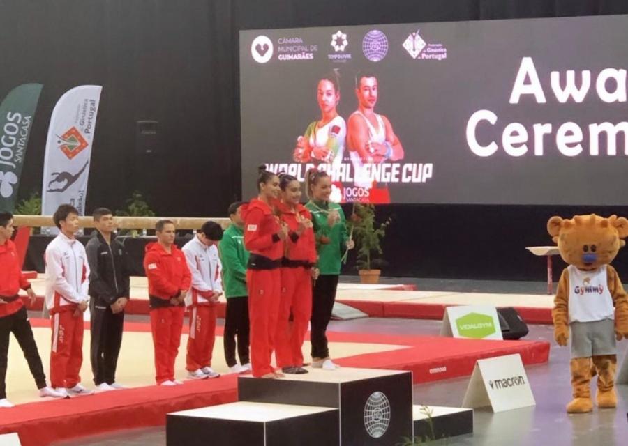 Frida Esparza logra medalla de oro en Copa Mundial de Gimnasia Artística