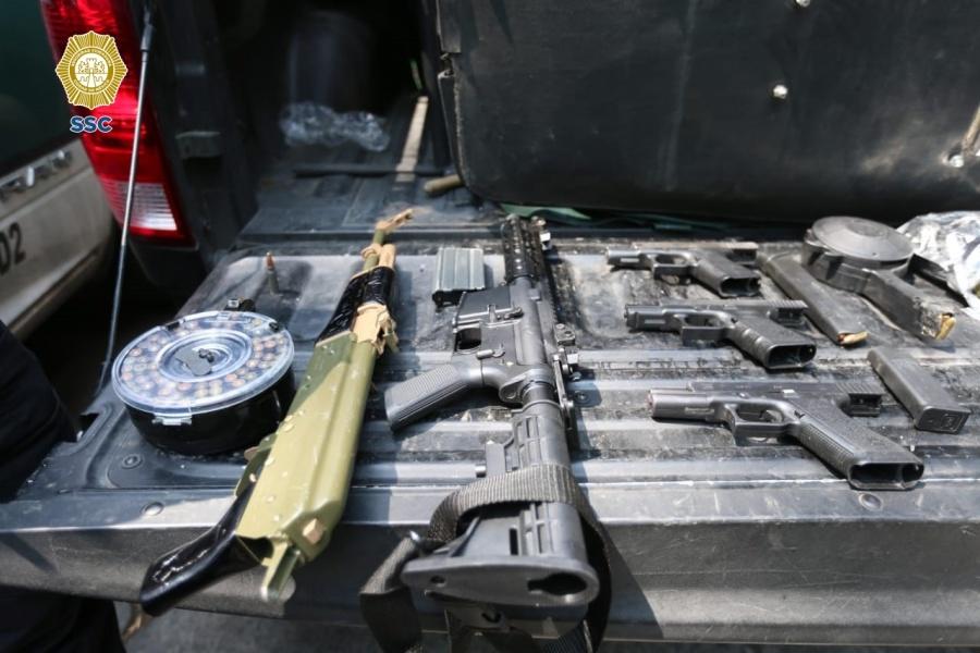 Narcotraficantes detenidos en CDMX iban a E.U; dijeron ser del Cartel de Santa Rosa