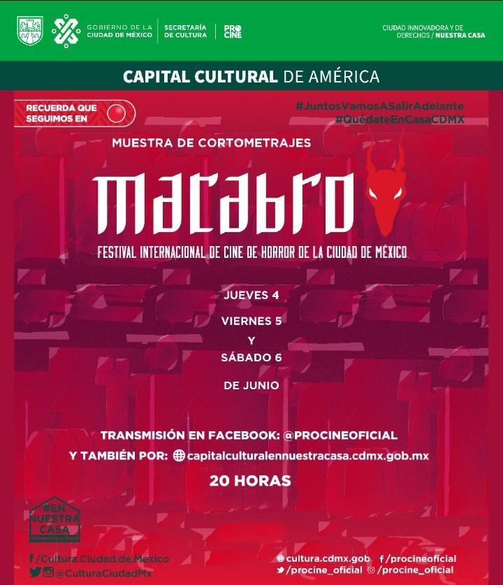 "Festival de Cine de Horror: ""MACABRO"" desde casa"
