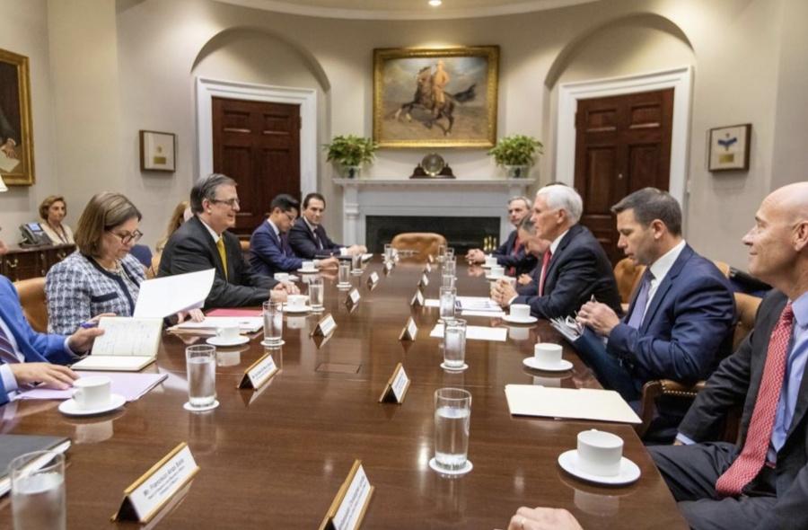 AMLO destaca reunión de Ebrard con funcionarios de EU