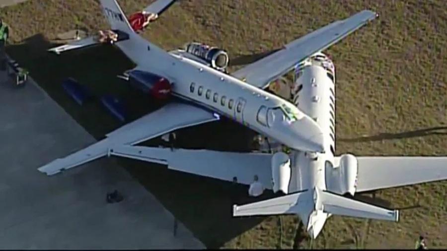 Chocan dos aviones en el Aeropuerto de San Antonio, Texas