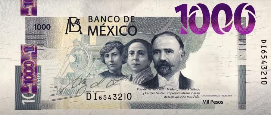 Presenta Banxico nuevo billete de mil pesos
