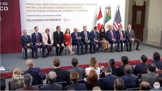 En vivo: Firma del Protocolo Modificatorio al Tratado entre México, Estados Unidos y Canadá.