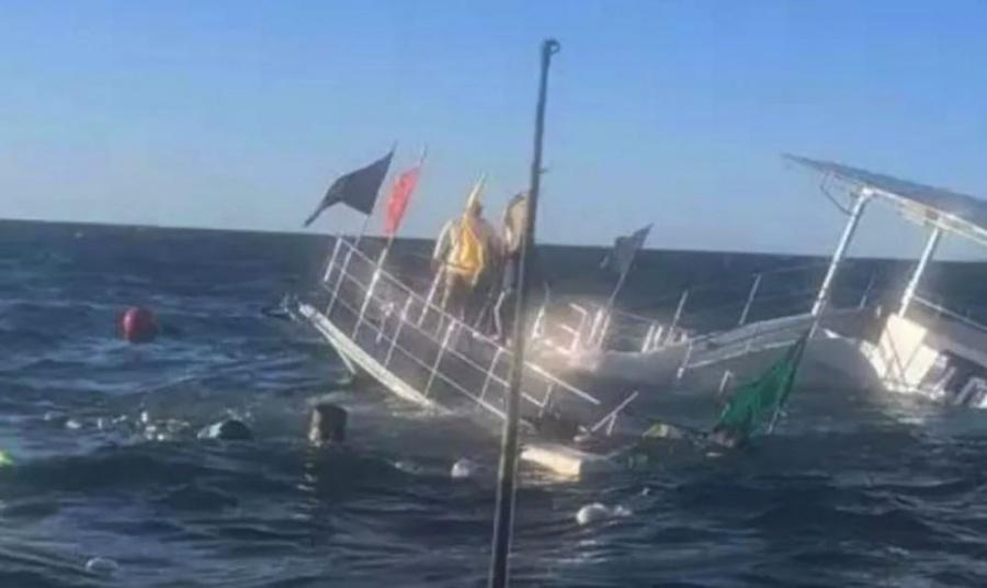 VIDEO: Embarcación se hunde con casi 60 turistas en Puerto Vallarta