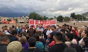 Vecinos paran obras del CABLEBÚS en La Purísima, Ticomán