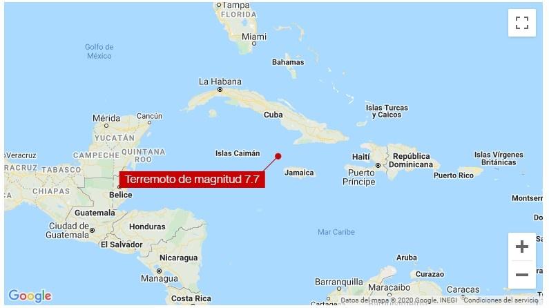 Se registró un sismo de 7.7 grados en El Caribe