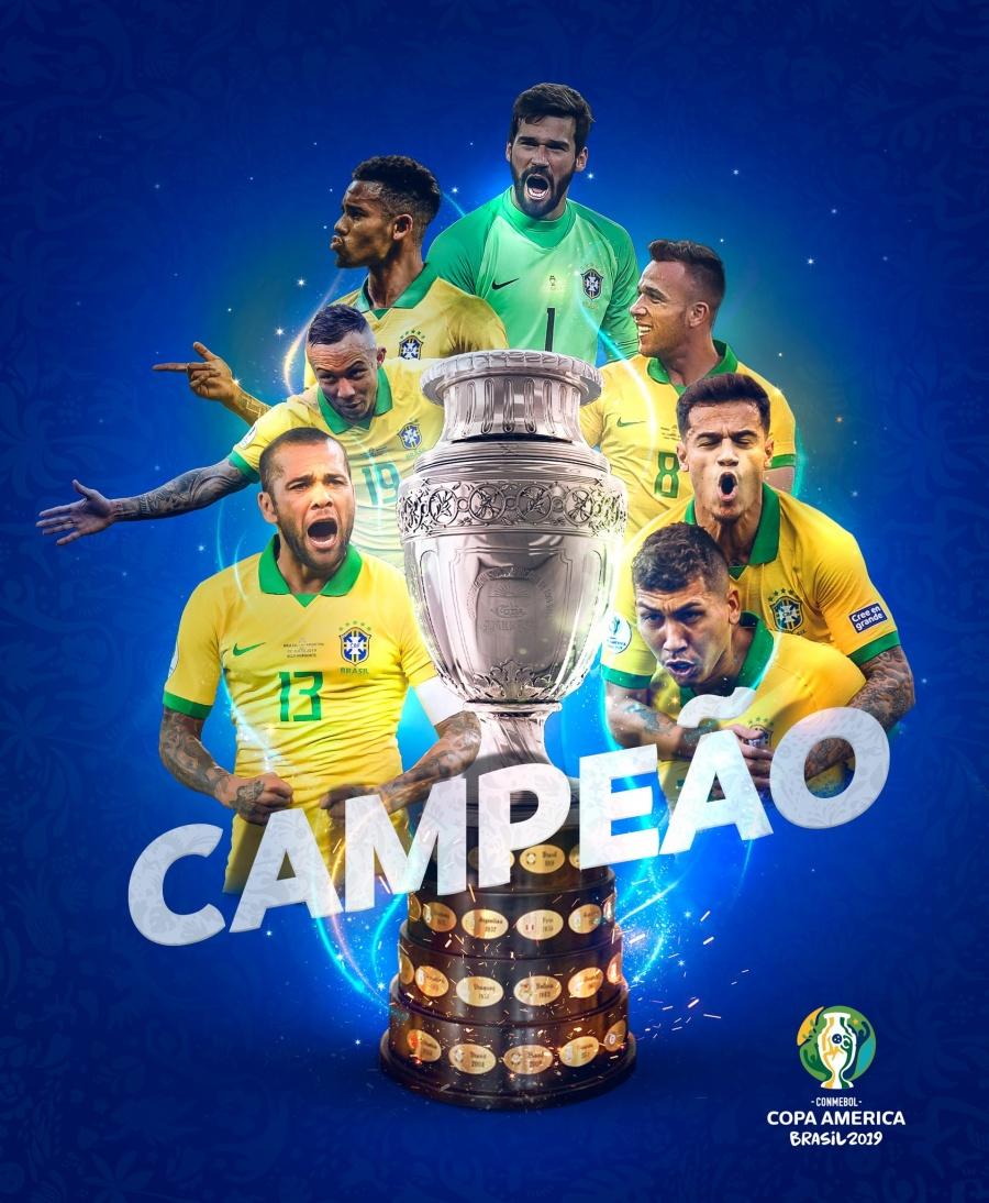 Gana Brasil su novena copa América
