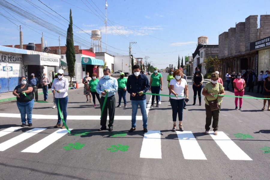Se entrega la pavimentación de la calle Ignacio Zaragoza en tiempo récord