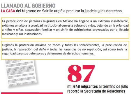 Acusan asesinato en operativo migratorio