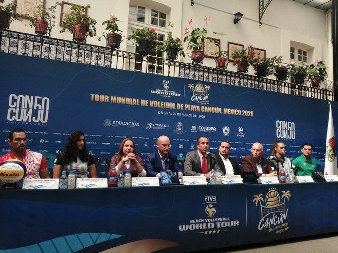 Presentan en CDMX Tour Mundial de Voleibol Cancún 2020