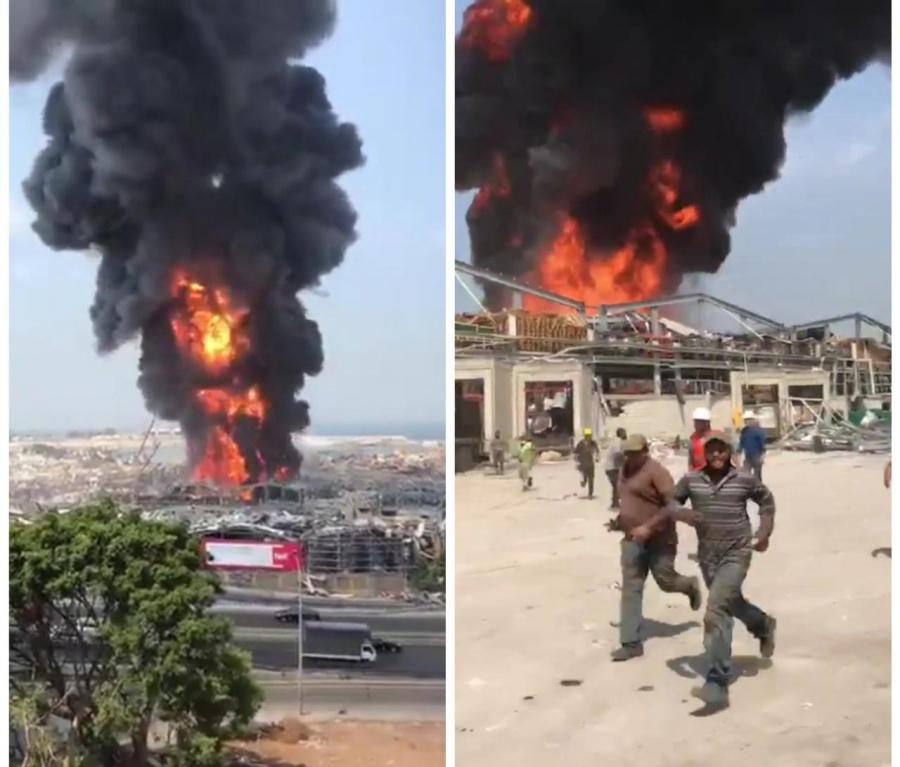 Primero la explosión en Beirut, ahora se incendió un depósito de aceite