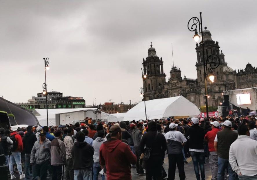 Recicladores protestan frente a Palacio Nacional