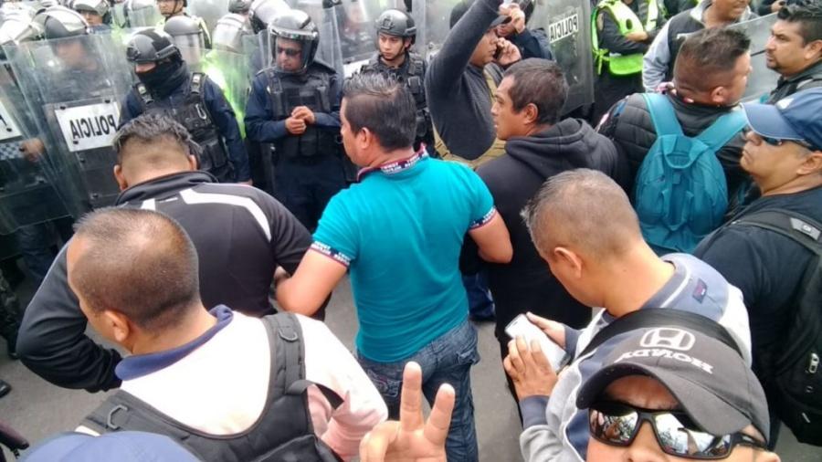 Durazo señala la protesta de efectivos como una provocación