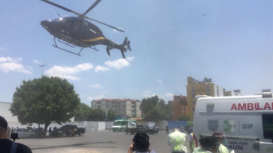 Debido a explosión de tanque de gas en Coyoacan, Condores trasladan a heridos