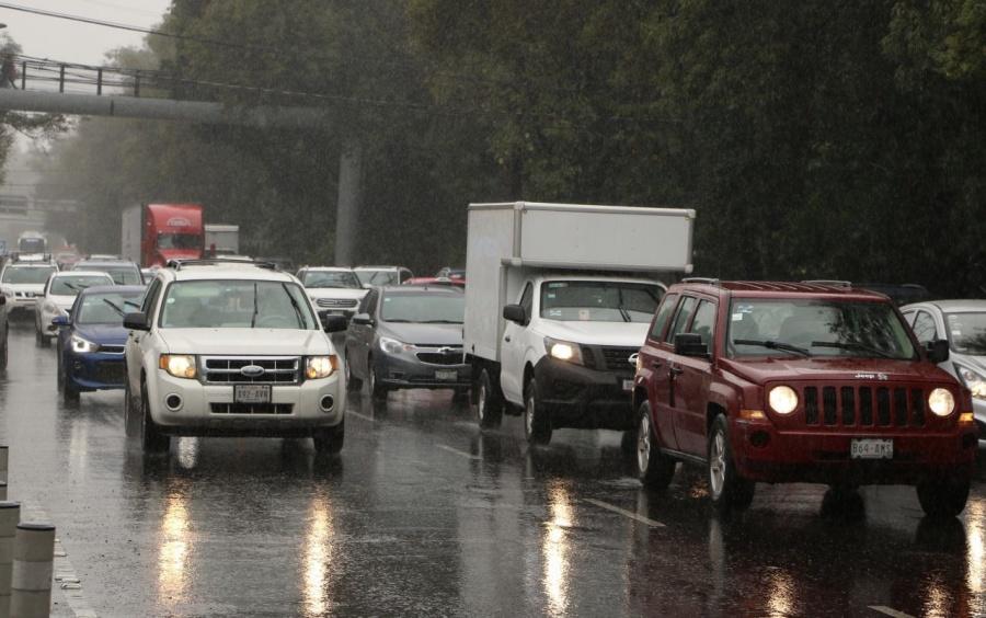 Lluvias en la capital, no se reportan accidentes