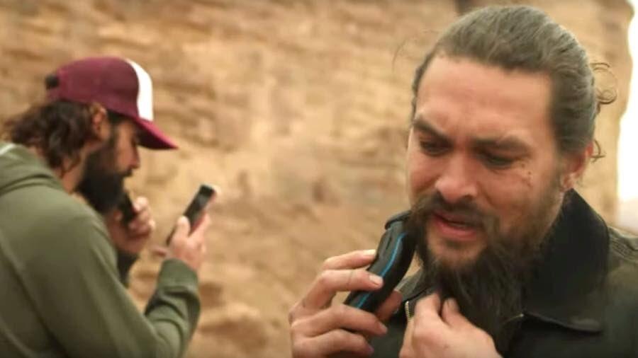 Jason Momoa, se rasura la barba para decirle adiós a Drogo