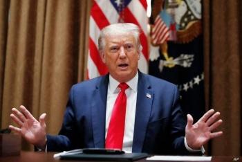 Mientras Trump estaba en conferencia, hubo un tiroteo afuera de la Casa Blanca
