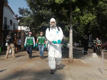 Alcaldía Miguel Hidalgo sanitiza calles de Polanco ante Covid-19