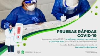Reanudará CDMX aplicación de pruebas rápidas este sábado