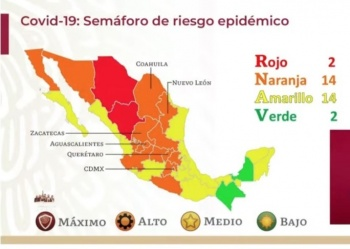 Chiapas, segundo estado en pasar al semáforo verde por COVID-19
