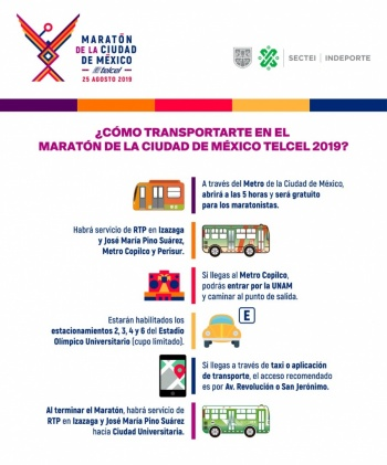 Afectaciones por cierres viales y en transporte público por Maratón CDMX