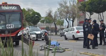 Atropella el Metrobús a un ciclista en Vallejo