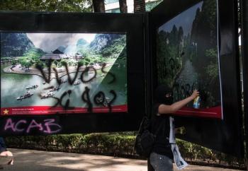 Se registran actos vandálicos durante la marcha de los 43