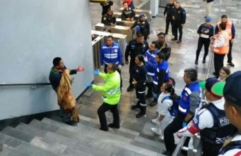 Sujeto se corta el cuello en Metro Pantitlán