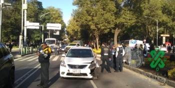 Automovilista atropella a cuatro en Paseo de la Reforma