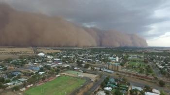 Ahora son tormentas de polvo las que afectan a Australia, en la zona sureste