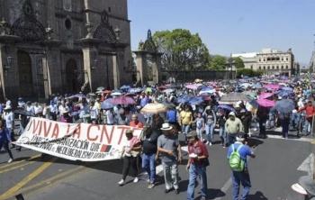 Critica la CNTE el regimen que ha adoptado Obrador