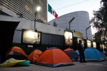 CNTE instala plantón afuera del Senado por reforma educativa