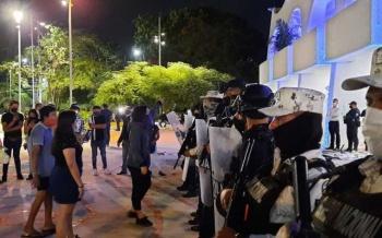 Nueve lesionados, tres de ellos de bala, resultado de la represión de protesta en Cancún