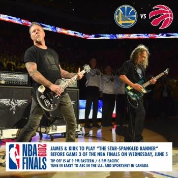 Metallica tocará el himno de EU en la final de la NBA