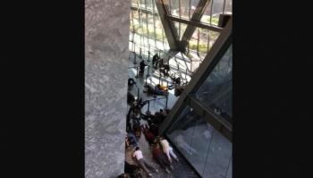 Registran balacera frente a juzgados en Patriotismo y Puente de la Morena