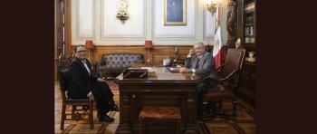 AMLO se reúne con Rosa Icela Rodríguez tras contagio por Covid-19