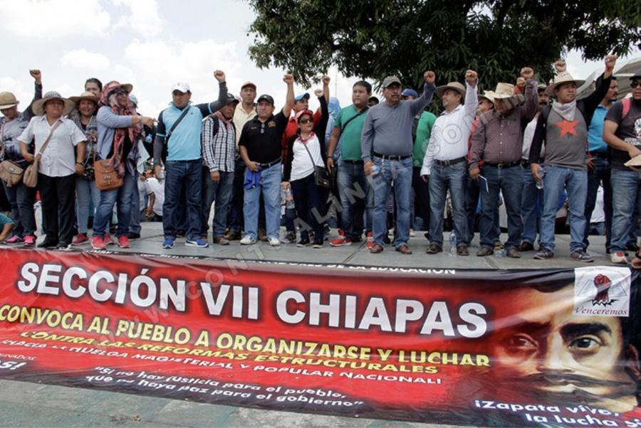 CNTE de Chiapas rechaza la reforma obradorista