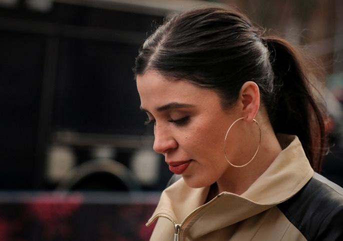 Emma Coronel, se muestra serena tras el veredicto de su marido