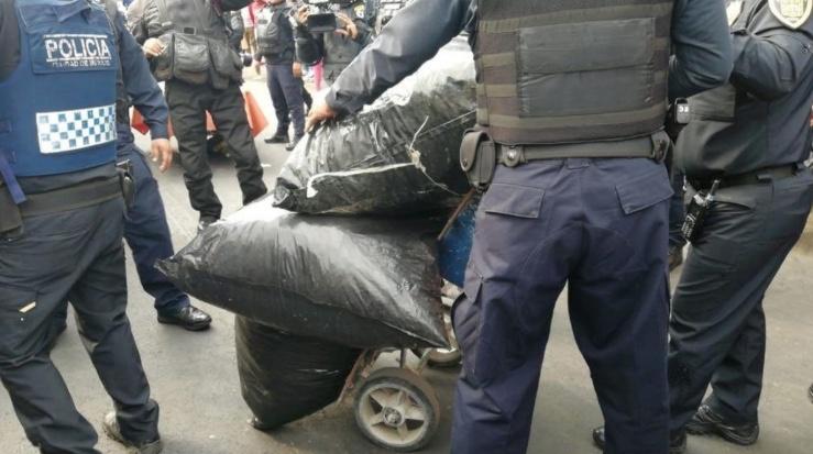 Decomisan 50 kilos de marihuana en Tepito