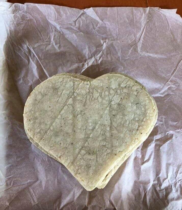 Ya hay tortillas en forma de corazón para San Valentín