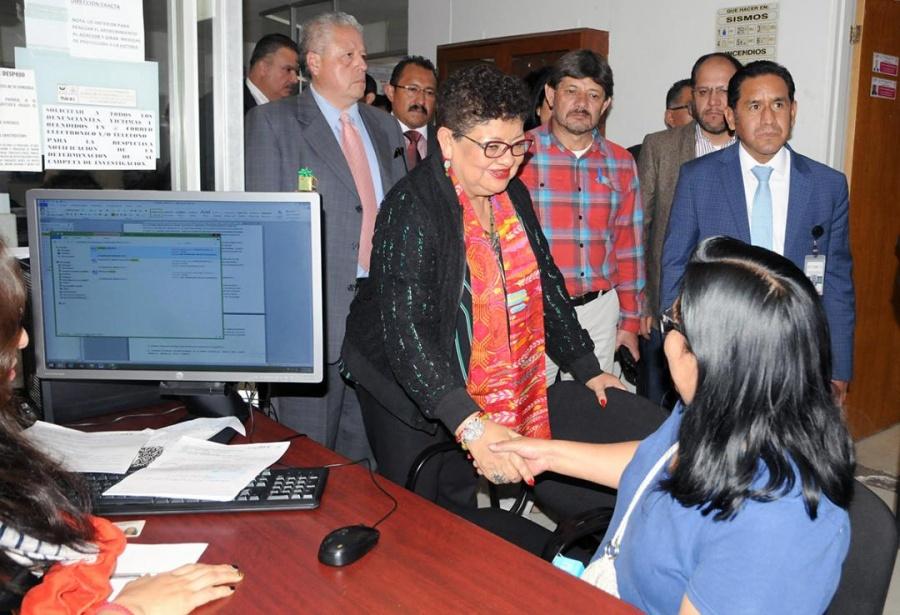 Ernestina Godoy supervisa fiscalías de Tláhuac y Milpa Alta